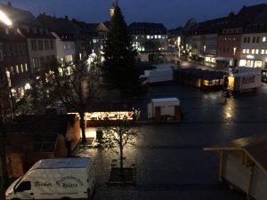 Distels Elchhütte auf dem Schweinfurter Weihnachtsmarkt