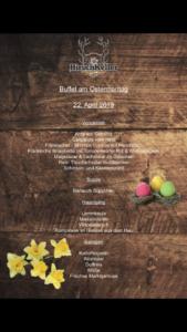 Hirschkeller – Osterbuffet